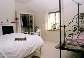 One of the double bedrooms in the Norfolk holiday cottage